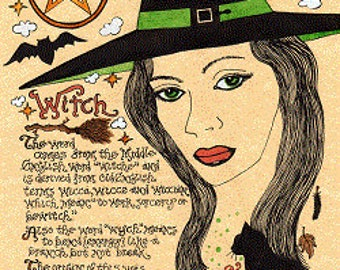 Book of Shadows Wicca Grimoire Art The Witch 2003 Digital Download Make Your Book of Shadows Beautiful/Unique/Inspired by Carole Anzolletti