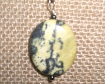 Yellow Turquoise and sterling pendant
