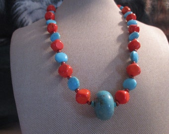 Southwest Summer-Turquoise coral copper summer