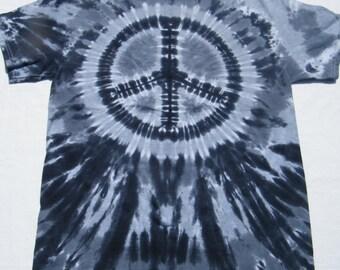 tie dye shirt Black Peace Sign tye dye tiedye