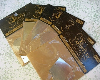 Stamping Blanks Set by Jewelry Shoppe findings 205484L lot of 5 new packages 6 in each pack Nickel