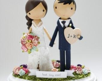 custom wedding cake topper - order for - LITTLEMISSMOW