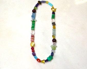 Fix Up, Get Sharp Multi-Gemstone Necklace in 22kg Vermeil..