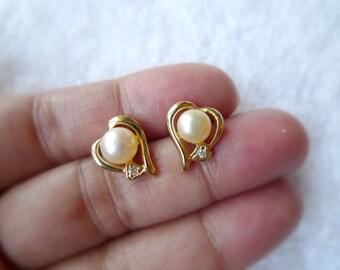 Helen . white cultured pearl earrings . 14K GP