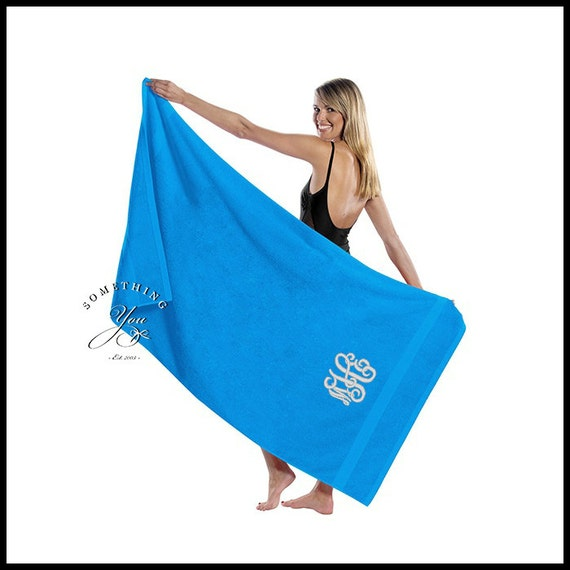 oversized beach towels oversized monogrammed turquoise towel king size 36 30340