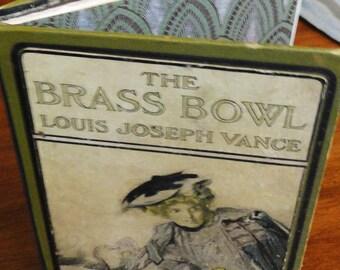 Handbound Artist Journal from vintage THE BRASS BOWL