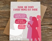 funny baby card / new baby card / expert moms
