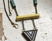 Geometric Collage Necklace