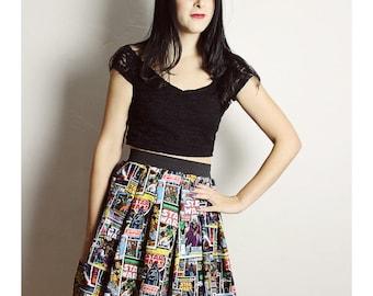Short Custom STAR WARS Skirt - Handmade Star Wars skirt Adult - Diy High Waisted Skirt - woman Comic Book Skirt - XL star wars skirt