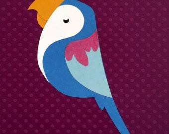Tropical, Jungle, Tiki, Blue Parrot Decor