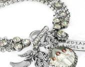 Angel Jewelry, Angel Bracelet, Personalized Angel Bracelet, Angel Wings, Spiritual Bracelet, Religious Jewelry