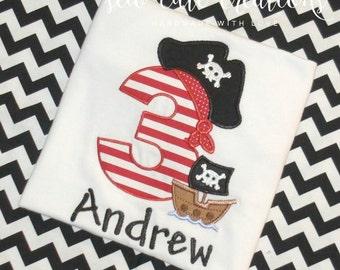 Pirate Birthday Shirt, Pirate Shirt, Boy Pirate shirt, Girls Pirate shirt, Boy Birthday shirt, Girl Birthday shirt, sew cute creations