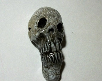 Voodoo, Antigue Skull,  Zombie Head Pendant