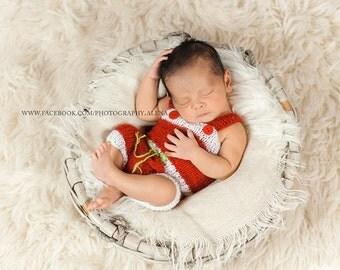 Knit Romper Overalls Baby Pants Newborn Photo Props - Choose Color Size colors