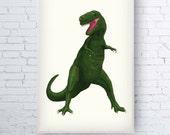 A4 / A3 Heavy Weight Digital Print • T Rex, Dinosaur Illustration