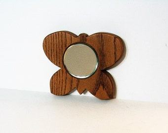 Butterfly Mirror Made Of Oak wood With Beveled Glass