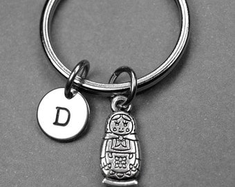 Matryoshka Doll Keychain, Russian doll keychain, Nesting Doll Keychain, Matryoshka keyring, Matryoshka doll Charm, Personalized keychain