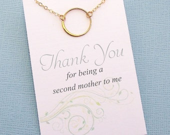 Mother of the Bride Gift | Eternity Circle Necklace, from Bride to Mom, from Groom to Mom, Mother of the Groom, Mothers Gifts, Bridal | B07
