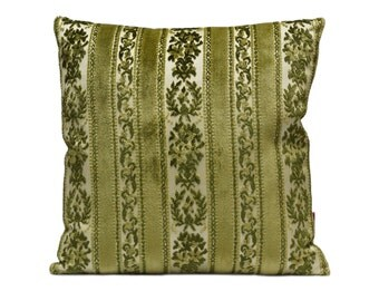 Green Shabby Chic Pillow,  Velvet Cushion Cover, Throw pillow, Decor Pillow, Sofa Cushion, Accent Pillow, Handmade with Love by EllaOsix
