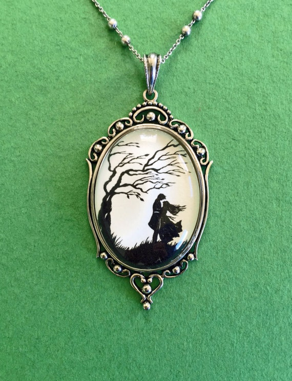Sale 20% Off // WUTHERING HEIGHTS Necklace, pendant on chain - Silhouette Jewelry // Coupon Code SALE20