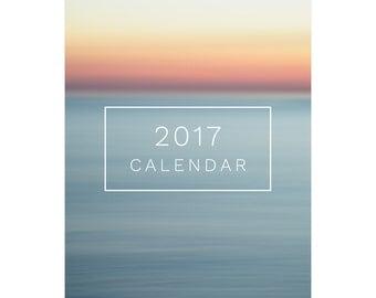 Abstract 2017 Calendar - Beach Photography - 2017 Desk Calendar - Beach Lovers Gifts Under 25 - Stocking Stuffer - 5x7 - Coworker Gift