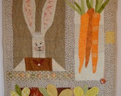 "Applique Bunny Wall-hanging ""Spring Fever"" STWOFG"