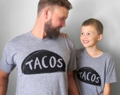 Father Son Matching Shirts, Taco Shirt Set, matching christmas shirts gift for dad matching family, taco tuesday husband gift, funny shirts