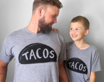 Father Son Matching Taco Tuesday Tshirts,  matching family shirts, gifts for dad from daughter son father daughter daddy and me