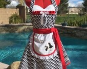 Alice inspired Sassy Apron, Alice and the Rabbit, Girls, Womens Misses and Plus Sizes, Sweetheart Apron, Pin Up, Cosplay, Alice Costume