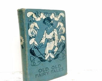 Fairy Tale Book, Teal Wedding, Something Blue, Ring Bearer Pillow, Alternative Ring Bearer, Fairytale Book for Wedding, Fairy Tale Wedding
