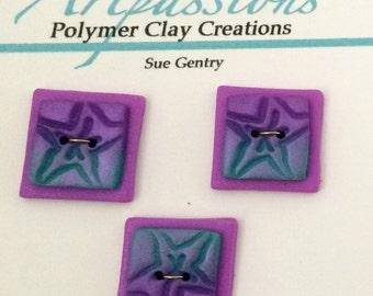 OAK Handmade Polymer Clay Buttons