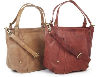 Leather Handbag Tan /Leather Purse /Leather Tote /Leather Hobo