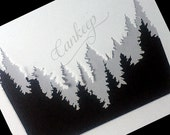 "Woodland Mountains -Stencil  - 6""x6""   Stencils by cankeep"