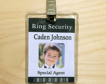 Ring Security Bearer Gift Badge ID