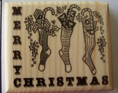 Military Christmas Greeting New Mounted Rubber Stamp - Ships FREE