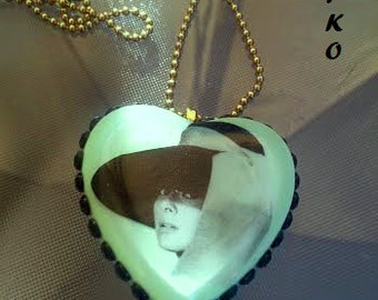 Audrey Hepburn Mint Heart Necklace