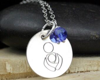 International Babywearing Symbol Necklace Sterling Silver