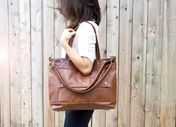 Ready to Ship, Leather Laptop Bag, Leather Tote, Professional Leather Bag, Attorney Bag, Chestnut Brown Leather Briefcase, Womens, Archive
