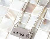 Mama Bear Necklace, Hand Stamped Jewelry, Personalized Jewelry, Mama Necklace, Bar Necklace, Mommy Jewelry, Mom Jewelry, Gift for Mom
