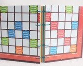 Scrabble Journal Recycled Game Board Book version 16 by PrairiePeasant