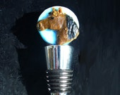Chestnut Brown Horse Fused glass Aanraku bottle stopper