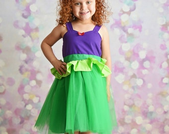 Ariel dress Mermaid dress  princess Tutu dress for birthday party dress  or portrait Ariel dress