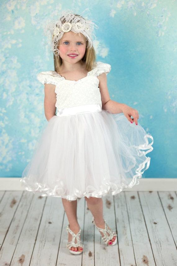 White Flower Girl Dresses Etsy 87