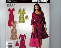 Misses Sewing Pattern Simplicity 3527 Misses and Petite Pullover Flared Dress Size 10 12 14 16 18 20 22 Bust 32 34 36 38 40 42 44 UNCUT