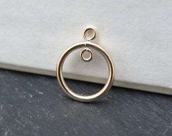 Gold Filled 1 Loop Round Chandelier 14mm (CG8327)