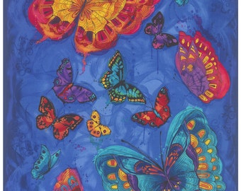 Butterfly Blue Monterey Timeless Treasures Fabric Panel