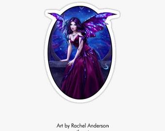 Andromeda Sticker - galaxy wing dragon art