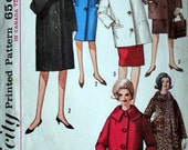 Misses' Coat in Two Lengths, Simplicity 5103 Vintage 60's Sewing Pattern, Size 14, 34 Bust, Mad Men Retro