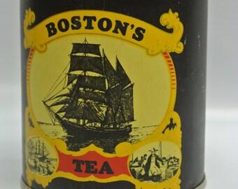 Boston's Tea - vintage storage tin