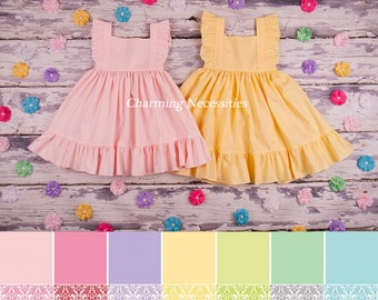 Easter Dress Toddler, Girls Easter Dress, Big Sister Little Sister Outfits, Toddler Heirloom Flutter Sleeve Dress, Choose from 14 Colors